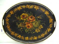 Victorian Tole Painted Tray