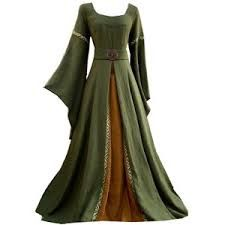 medieval dress - Google Search  I like the front design here with a different colour added into the dress