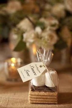S'mores Kit For fire pits outside the reception