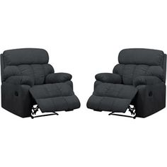 prolounger big and tall wall hugger microfiber recliner multiple colors set of 2