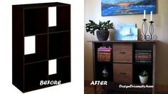 DesignDreams by Anne: Upcycling an Upcycled Cube Shelf