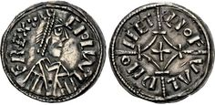 ANGLO-SAXON, Kings of Mercia. Ceolwulf II. 874-circa 880. AR Penny (22mm, 1.36 g, 7h). Cross and lozenge type. London mint; Leofweald, moneyer.