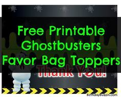 Use these free printable Ghostbusters favor bag toppers to create favor bags perfect for a Ghostbusters themed party. Halloween Goodie Bags, Halloween Goodies, Party Bags, Party Favors, Party Printables, Free Printables, Birthday Parties, 10th Birthday, Birthday Ideas