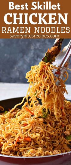 Try this homemadebesteasy Chicken Ramen noodle recipe which quick but healthy and delicious too. Fix lunches or dinners under 30 mins with this easy skillet chicken ramen stir fry which is going to be kids favorite too and that to under budget. Chicken Ramen Recipe, Chicken Stir Fry With Noodles, Skillet Chicken, Ramen Noodles, Healthy Chicken Recipes, Asian Recipes, Fried Ramen, Ramen Seasoning, Best Skillet