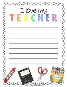 Teacher templates letters parents sample letter for teacher letters to the teacher end of year writing activity free printable spiritdancerdesigns Images
