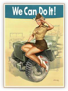 pin-up à l'armée USA
