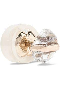 Melissa Joy Manning - 14-karat Gold, Herkimer Diamond And Opal Earrings - one size