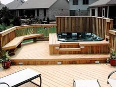 Deck Around Spa For Small Backyard: Deck Around Spa Image