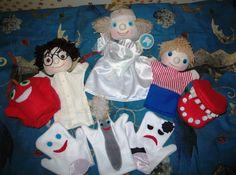 puppet, handpuppet, kesztyűbábok