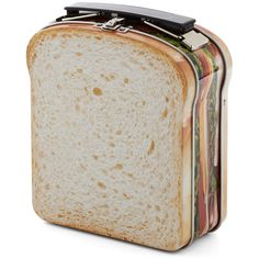 Pack to School Sandwich Box (85 SEK) ❤ liked on Polyvore featuring home, kitchen & dining, food storage containers, bags, fillers, food, accessories, backpacks, tin food storage containers and lunch box