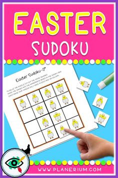 Easter Holiday Images Sudoku games for kids. For beginning puzzle solvers. Easter Activities, Fun Activities For Kids, Second Grade Games, Easter Symbols, Sudoku Puzzles, Holiday Images, Educational Games For Kids, Puzzle Books, Holidays With Kids