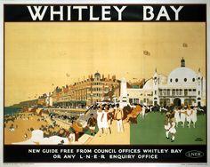 'Whitley Bay', British Railways poster
