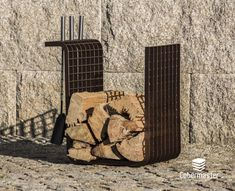 Square is the most simplistic Firewood Holder. As the name implies, it has a three-dimensional square shape, ideal for stacking firewood since it can support a large amount of cargo. It is designed with a 90º angle turned to the outside so you can suspend the accessories in the holder.  Dimensions (cm): Width: 47; Depth: 30cm; Height: 50cm Stacking Firewood, Firewood Holder, Wood Storage, Minimalist Design, Three Dimensional, It Is Finished, Bronze, Shape, Accessories