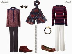 Build a Capsule Wardrobe by Starting With a Scarf: Navy and Burgundy | The Vivienne Files