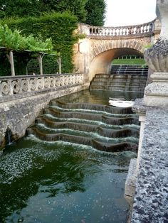 Fontaine du château de Villandry , Indre-et-Loire France