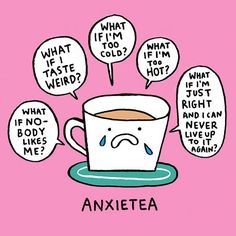 Illustrator Gemma Correll suffers from anxiety and depression, and she uses humor to cope. Her charming mental health comics offer support to others. Funny Puns, Hilarious, Tea Quotes Funny, Pun Quotes, Depressing Quotes, Funny Sarcasm, Top Funny, Motivational Quotes, Chemistry Jokes