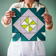 Block Recipe #23, Morning Paper: The Quilt Block Cookbook