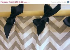ribbon instead of boring old shower curtain holders