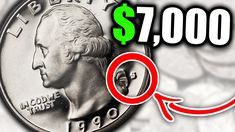 These are super rare 1990 quarters worth money and valuable US coins. We look at the 1990 Washington Quarter, what is it worth and other coin values. Valuable Pennies, Rare Pennies, Valuable Coins, Coin Collection Value, Old Coins Value, Old Coins Worth Money, Us Coins, Sell Coins, Rare Stamps