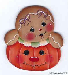 HP GINGERBREAD Pumpkin FRIDGE MAGNET