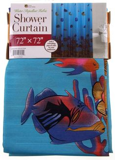 """Luxury Home Textiles Fish Shower Curtain Water Repellent Fabric 72"""" x 72"""""""