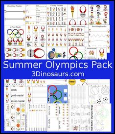 Free Summer Olympics Printables - over 100 pages great for kids ages 2 to 7 - http://3Dinosaurs.com