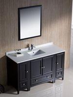 """54"""" Oxford Single Bath Vanity - Espresso"""