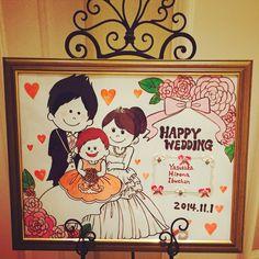 happywedding♡ #happy #wedding #boys #girls #baby #familly #welcome bord #illustrations # art #character #Hand-painted #illustrator #sumi #iam maimai #IAM MAIMAI   #女の子 #男の子 #赤ちゃん #家族 #結婚 #結婚式 #幸せ #ウェルカムボード #イラスト #アート #キャラクター  #手描き #イラストレーター #墨 #アイアムマイマイ