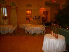 red carpet wedding theme | Our center pieces are tall, lush and yet, classy