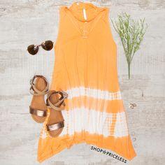 Good Day Tie Dye Dress - Orange