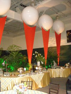 Spandex and Orbs for golf event, J Patrick Designs