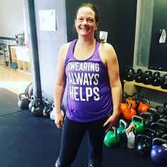 Swearing always helps  Shirt of the day for sure!  Melissa wins!  We  our members!  #kettlebells #minnstagram #kettlebell #Minnesotamade #fitlife #6weeklinolakes #rope #fitranx #levelup #orange #NorthBranch #Hugo #LinoLakes #fitness #Minnesota #WhiteBear #weightloss #Minnesotalife #centerville #gymtime #motivation #whatsyourlevel #winning #180fitfam #inspiration #180kbellgym #noregrets #justresults #sweatangels #gymlife