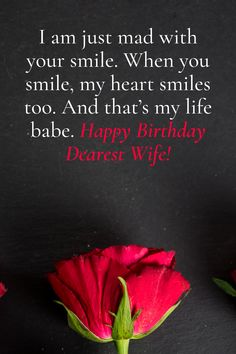 Loveliest happy birthday wishes for your wife. Tell her how much you love her with these lovely wishes and messages. Birthday Wishes For Wife, Happy Birthday Dear, Wishes For You, Romantic Quotes, Love Her, Messages, Text Posts, Text Conversations