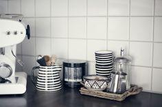 Francis Francis Espresso machine. Tine K ceramics.