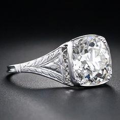 2.90 Carat Edwardian Solitare Diamond RIng. GET IN MAH BELLEH!