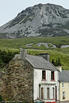 Under Errigal Mountain - the tallest peak of the Derryveagh Mountains, County Donegal,