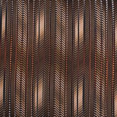 Brown Abstract Striped Satin-Faced Silk Georgette Fabric by the Yard | Mood Fabrics