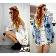 With the jean jacket or without? I love both!