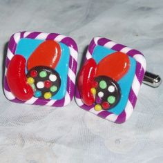Candy Crush Saga Cufflinks Fimo Clay Adjustable Facebook. http://www.judesjewels.co.uk/ourshop/prod_2696763-Candy-Crush-Saga-Cufflinks-Fimo-Clay-Adjustable-Facebook.html £8