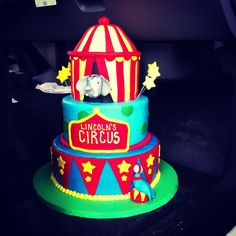 Lincoln's First Birthday circus cake! SO amazing.