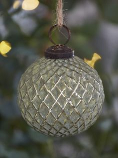 Nordic House Soft Green Bauble - Harlequin - In a quintessentially Christmassy shade of soft green, these antique-style glass baubles will add vintage style to your Christmas decor. Bohemian Christmas, Natural Christmas, Woodland Christmas, Silver Christmas, Vintage Christmas, Christmas Trends, Christmas Past, Christmas Inspiration, Christmas Bulbs