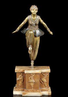 Demetre Chiparus   'Oriental Dancer' a Cold-painted Bronze Figure, circa 1925