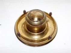 Antique Brass Victorian Inkwell by BountyFromThePast on Etsy