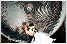 wedding photo at louisville science center