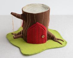 Toadstool Felt House Sewing Pattern DIY embroidery sewing