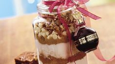 An impressive layered brownie mix makes the perfect gift from your kitchen to someone you love!