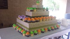 Cupcake tower in Konadu Body Care colors #konadubodycarelaunch