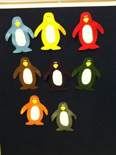 Pippa's Penguins #colors  #discussion #storytime #flannelfriday #flannelboards #penguins
