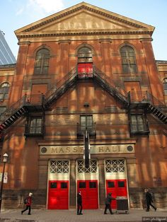 Live music venue Massey Hall in Toronto, Canada Toronto Travel, Toronto City, Downtown Toronto, Westminster, Places Around The World, Around The Worlds, Toronto Neighbourhoods, Toronto Ontario Canada, Fire Escape