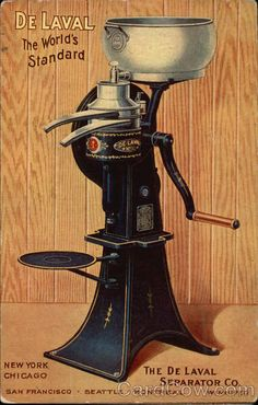 Antique De Laval Cream Separator No 10 Floor Model